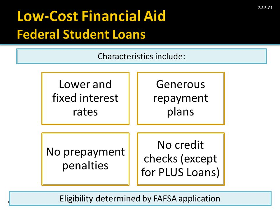 Low-Cost Financial Aid Federal Student Loans
