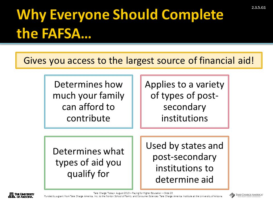Why Everyone Should Complete the FAFSA…