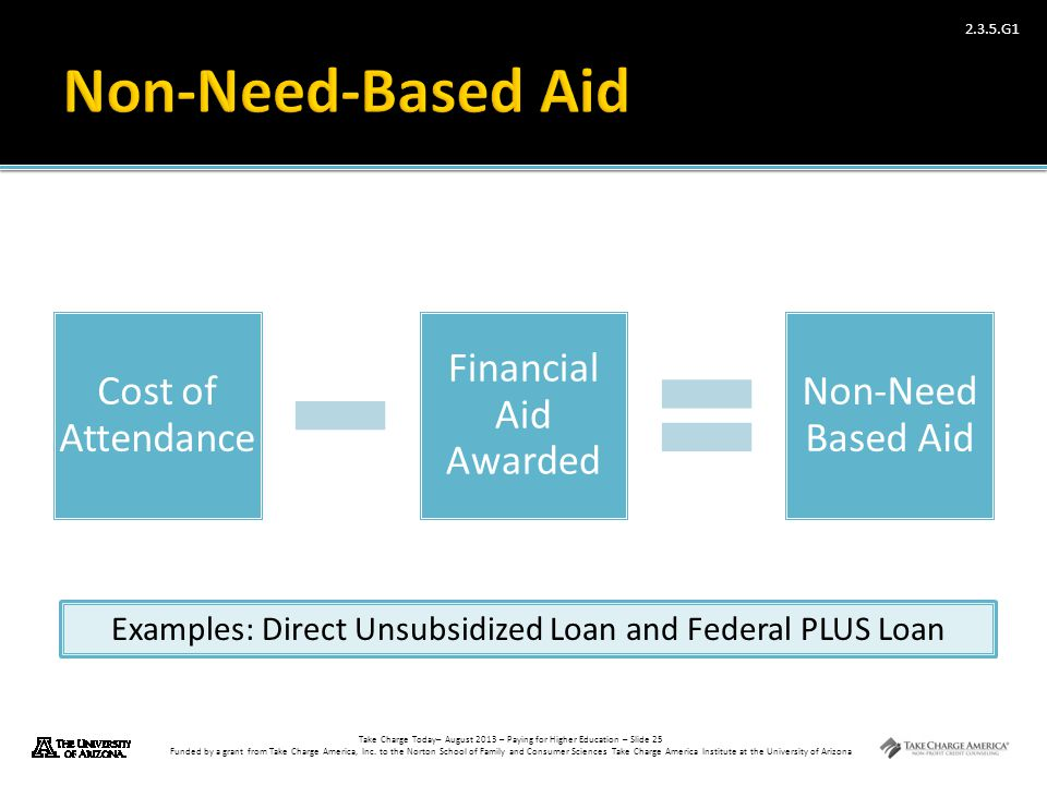Examples: Direct Unsubsidized Loan and Federal PLUS Loan