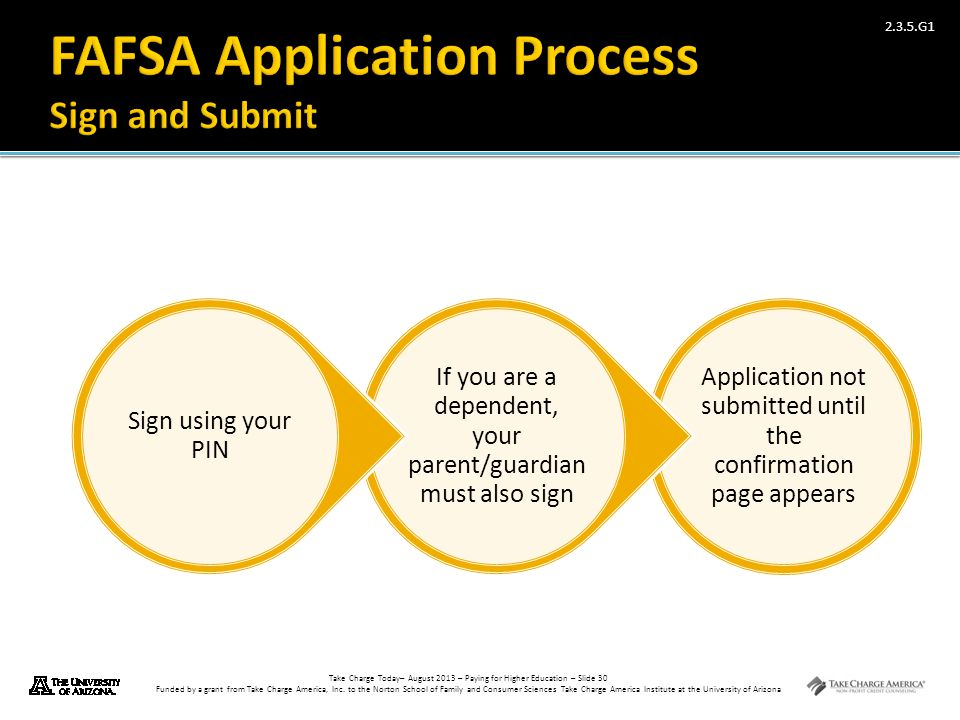 FAFSA Application Process Sign and Submit