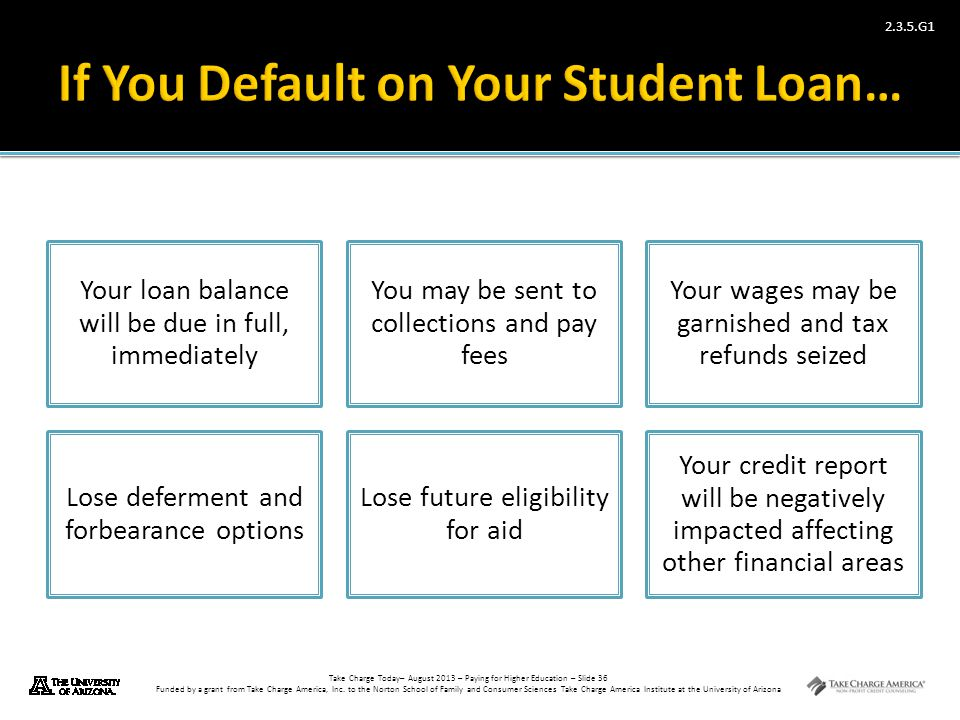 If You Default on Your Student Loan…