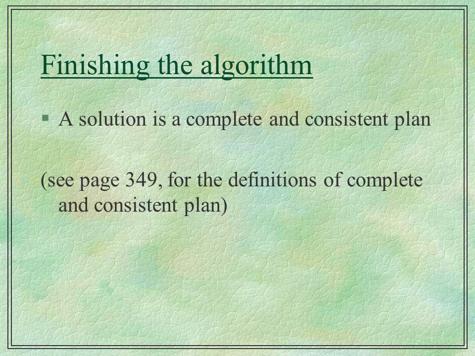 Finishing the algorithm