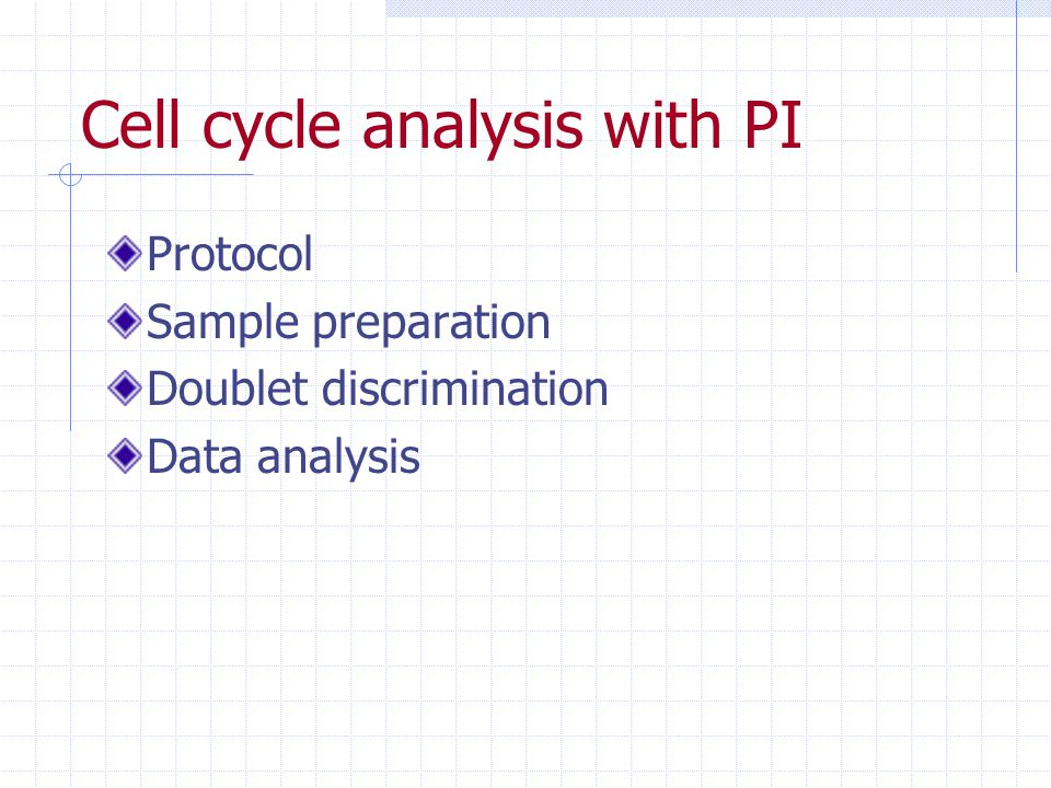 Cell cycle analysis with PI