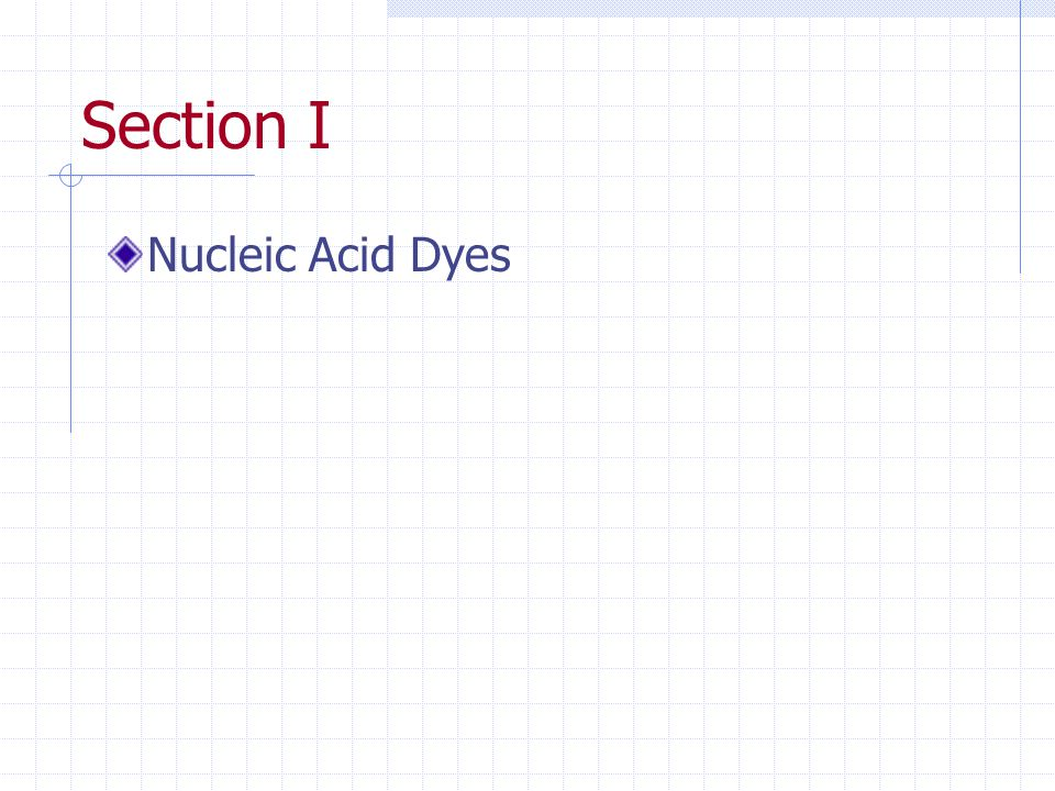 Section I Nucleic Acid Dyes
