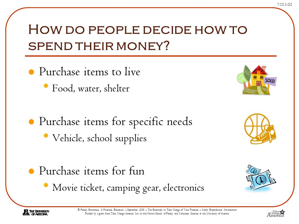 How do people decide how to spend their money