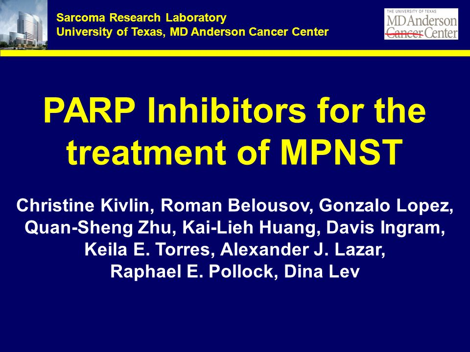 PARP Inhibitors for the treatment of MPNST