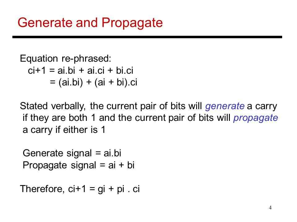 Generate and Propagate