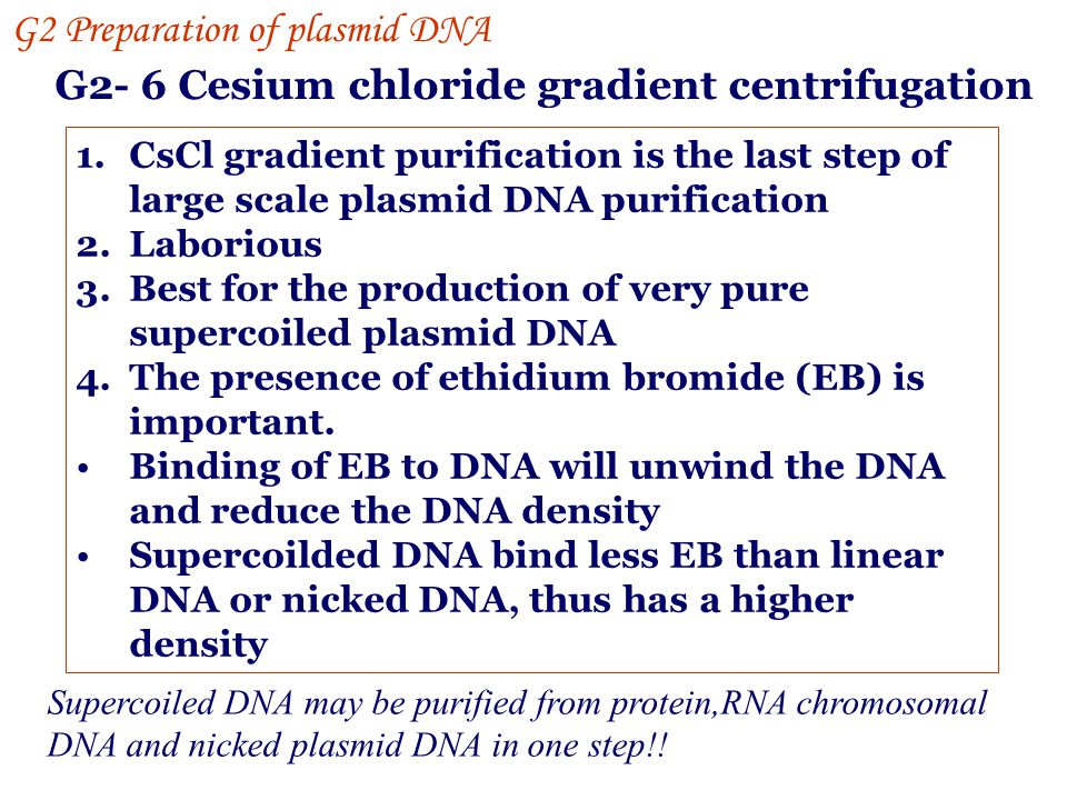 G2- 6 Cesium chloride gradient centrifugation