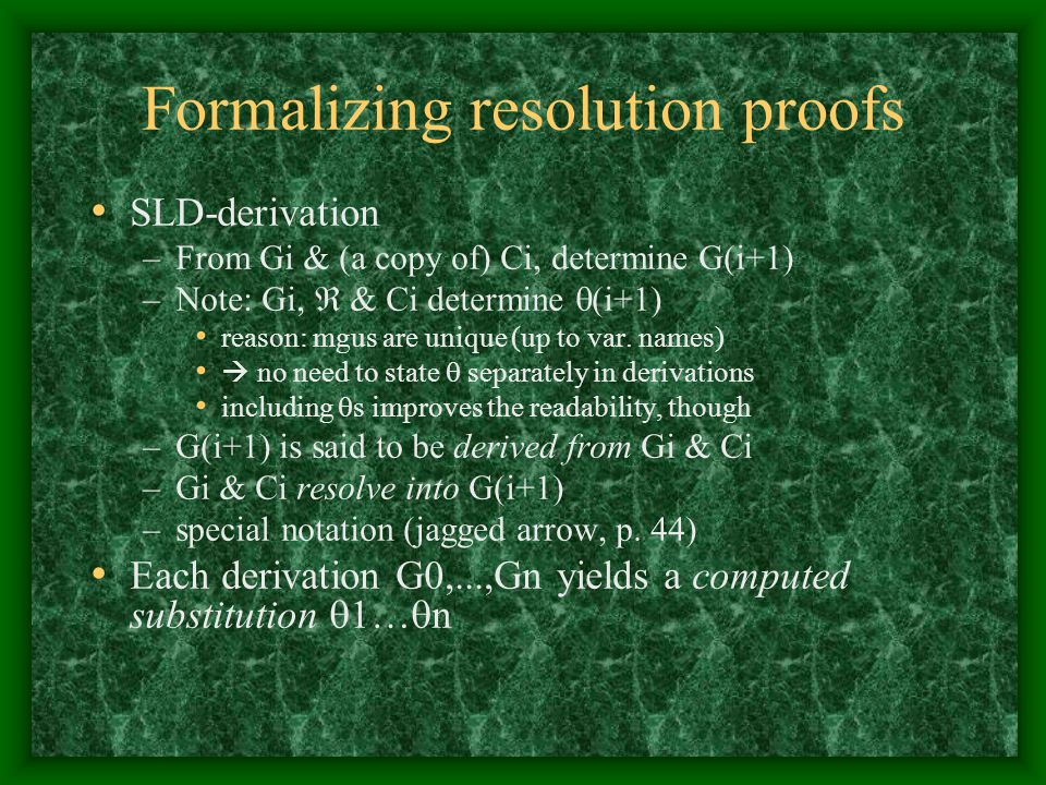 Formalizing resolution proofs