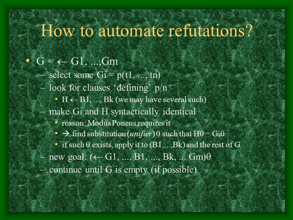 How to automate refutations