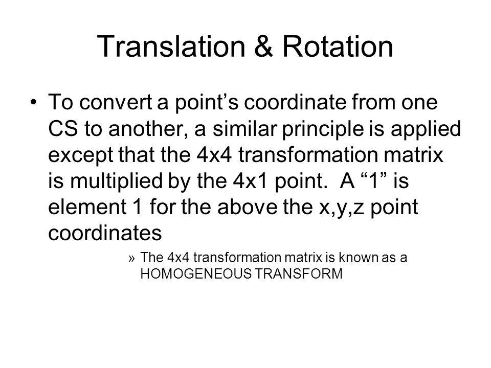 Translation & Rotation