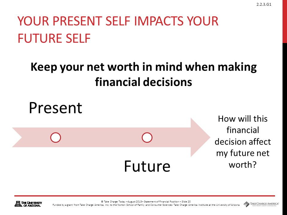Your present self impacts your future self