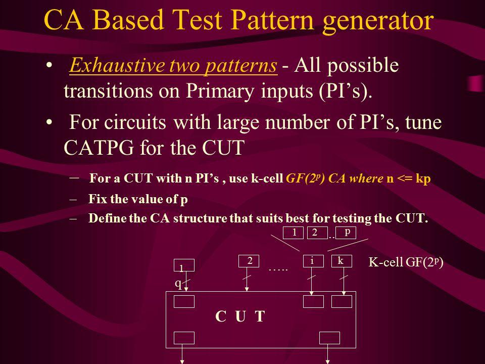 CA Based Test Pattern generator