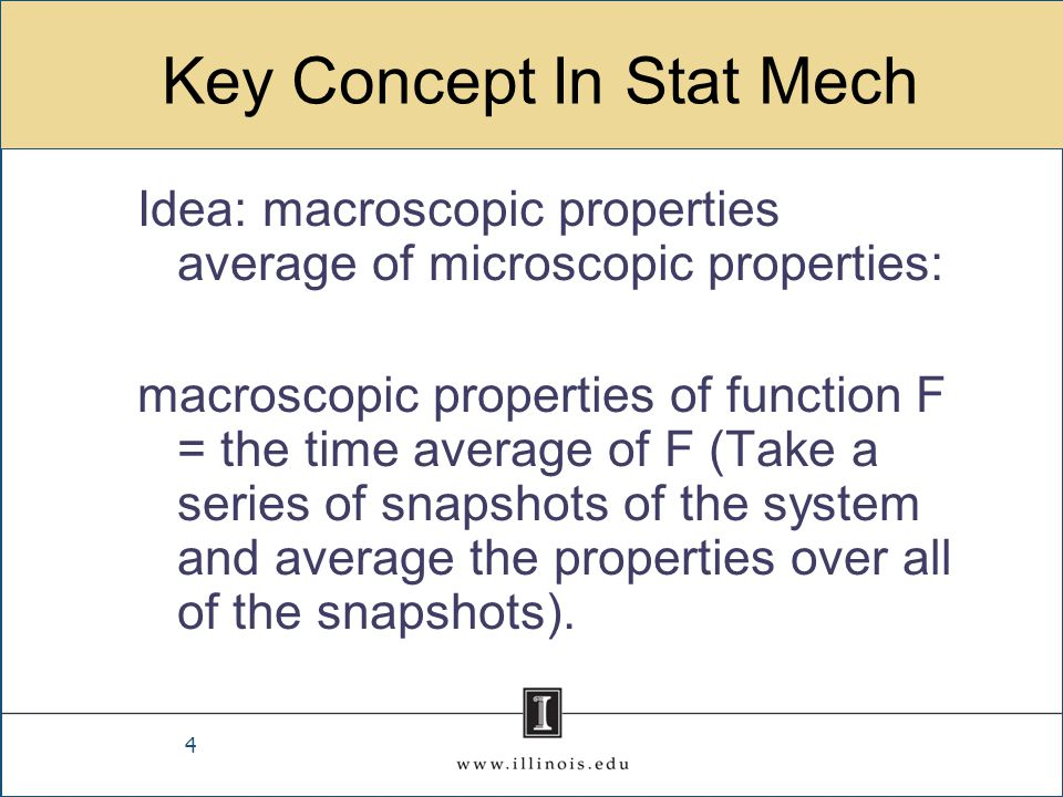 Key Concept In Stat Mech