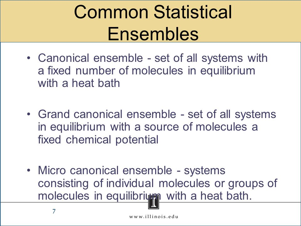 Common Statistical Ensembles
