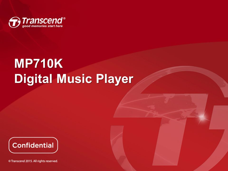 MP710K Digital Music Player