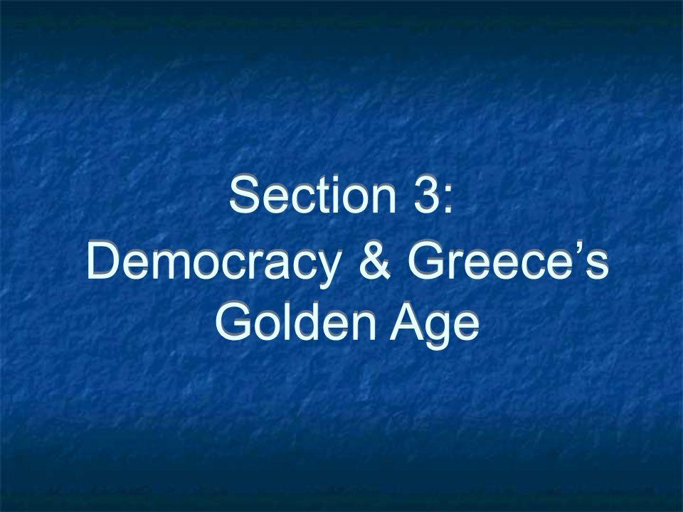 Democracy & Greece's Golden Age
