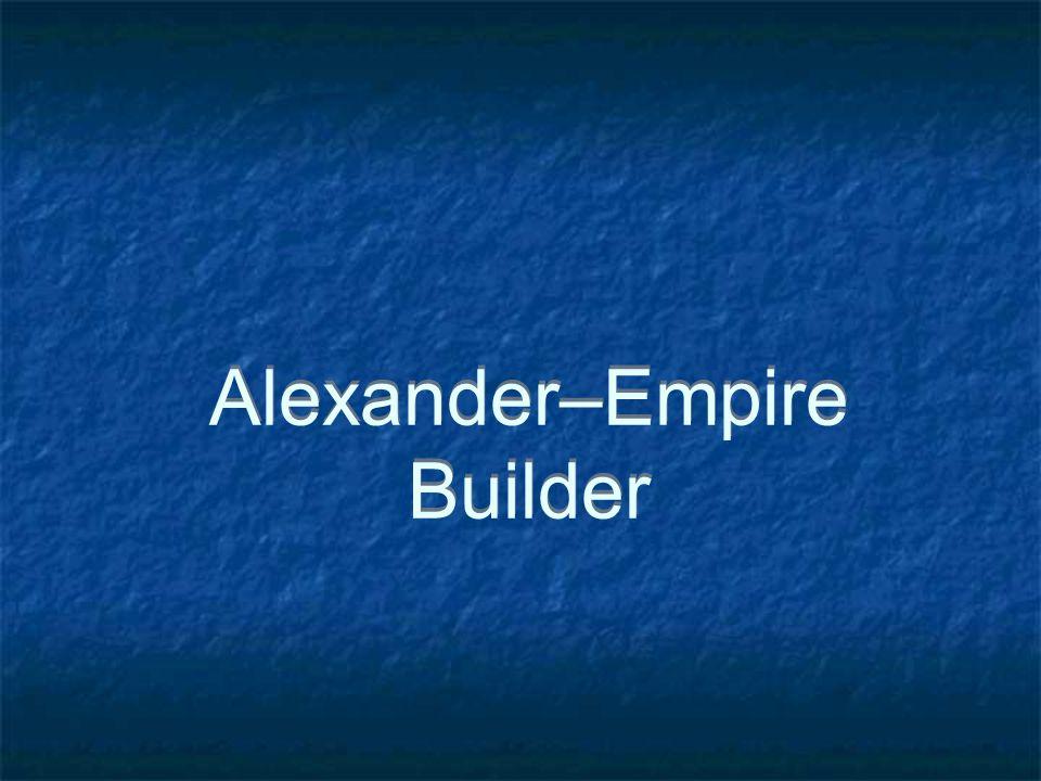 Alexander–Empire Builder