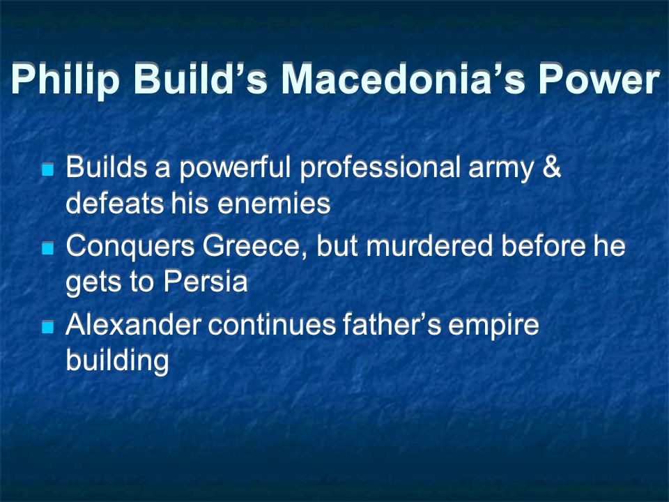Philip Build's Macedonia's Power