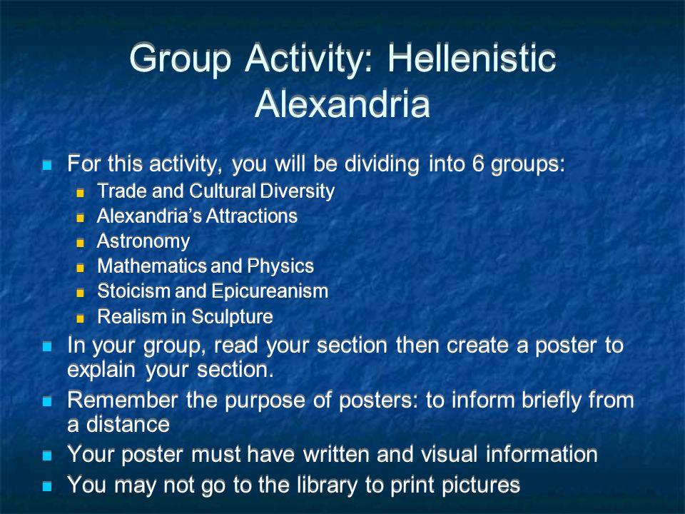 Group Activity: Hellenistic Alexandria