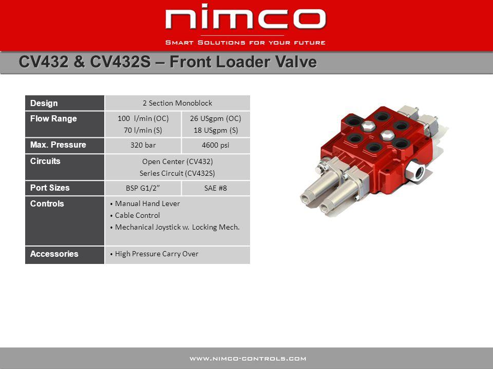 CV432 & CV432S – Front Loader Valve