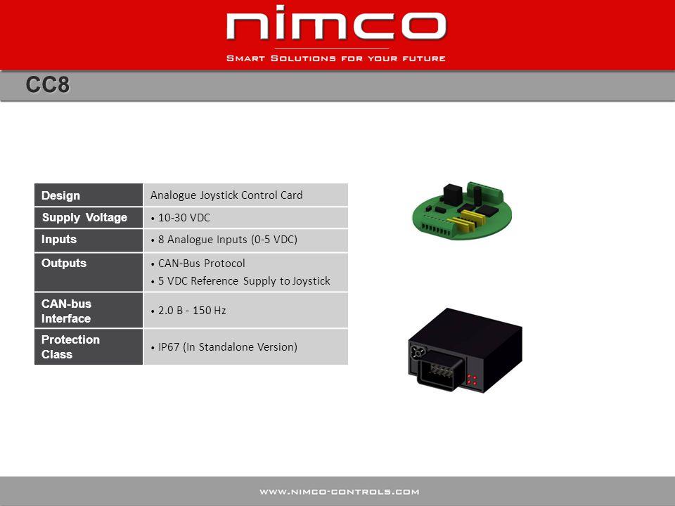 CC8 Design Analogue Joystick Control Card Supply Voltage 10-30 VDC