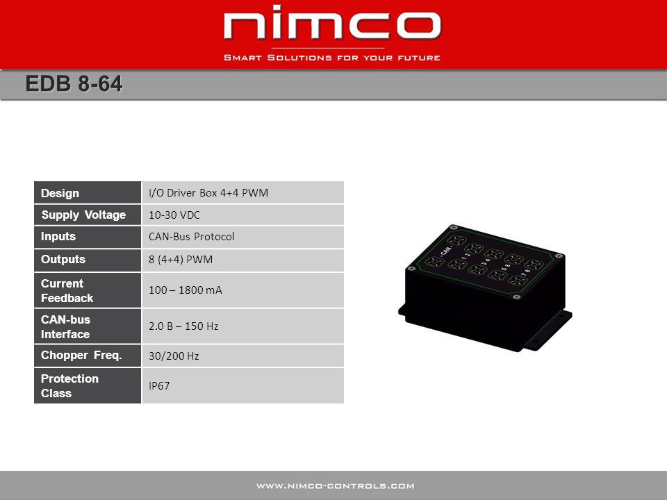 EDB 8-64 Design I/O Driver Box 4+4 PWM Supply Voltage 10-30 VDC Inputs