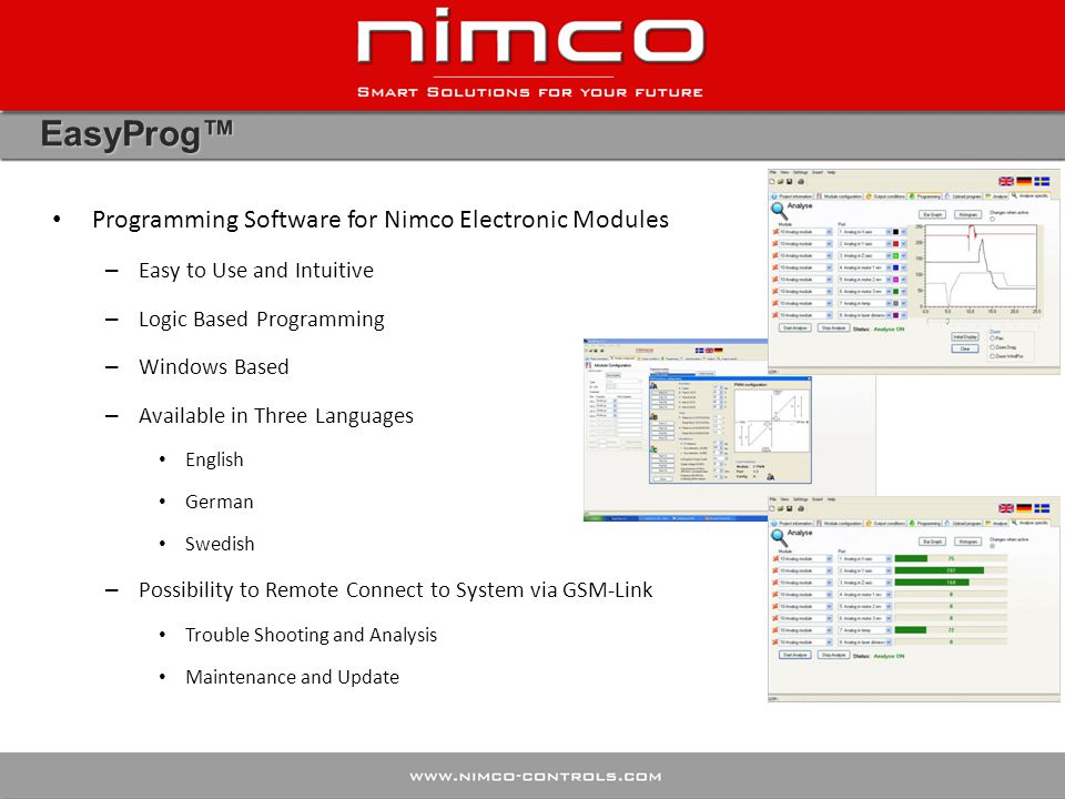 EasyProg™ Programming Software for Nimco Electronic Modules