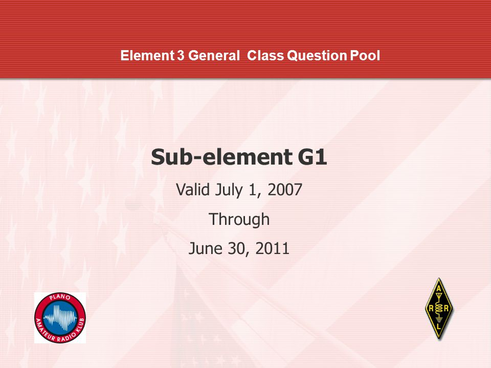 Element 3 General Class Question Pool