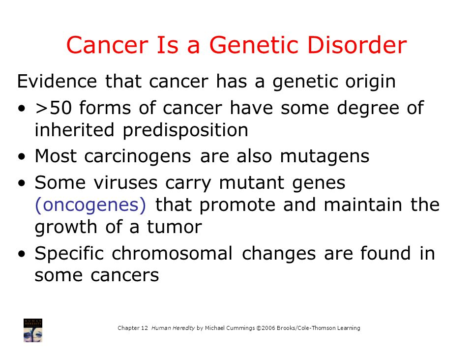 Cancer Is a Genetic Disorder