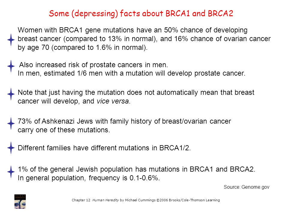 Some (depressing) facts about BRCA1 and BRCA2