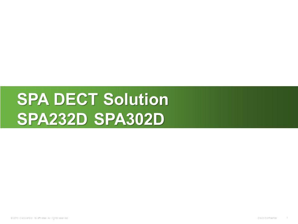 SPA DECT Solution SPA232D SPA302D