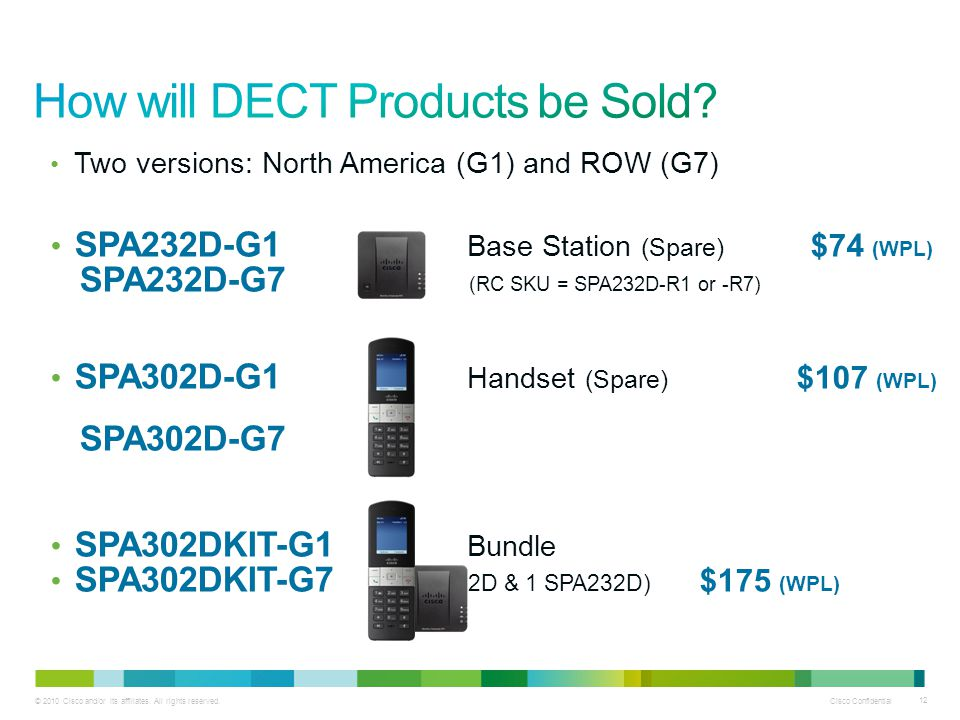 How will DECT Products be Sold