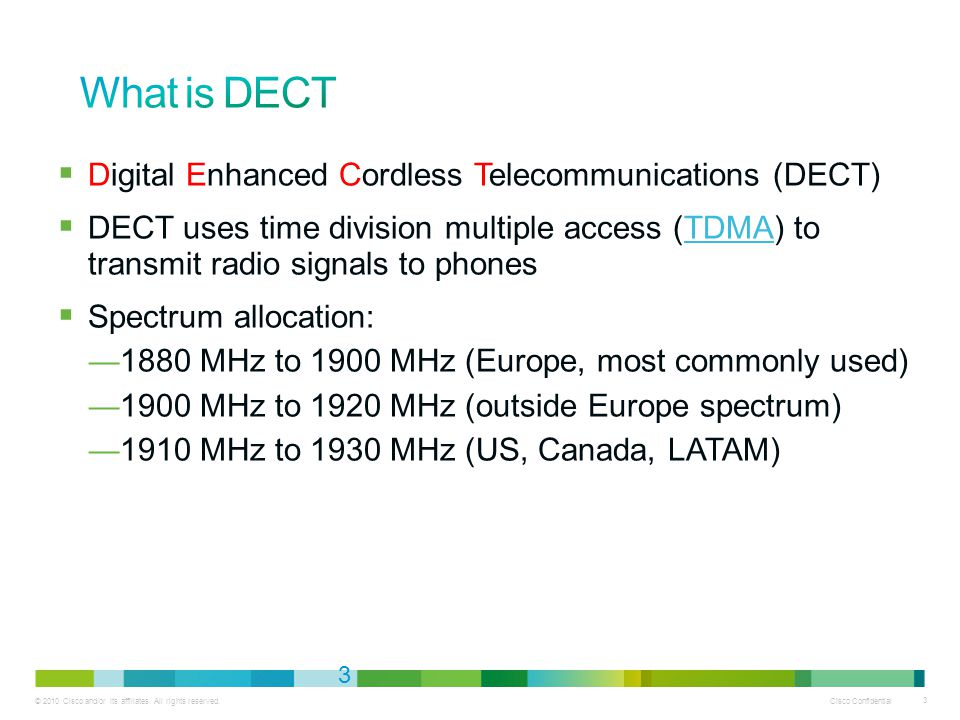 What is DECT Digital Enhanced Cordless Telecommunications (DECT)