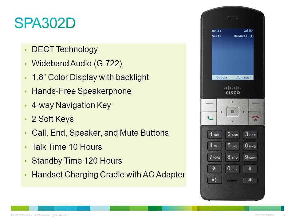 SPA302D DECT Technology Wideband Audio (G.722)