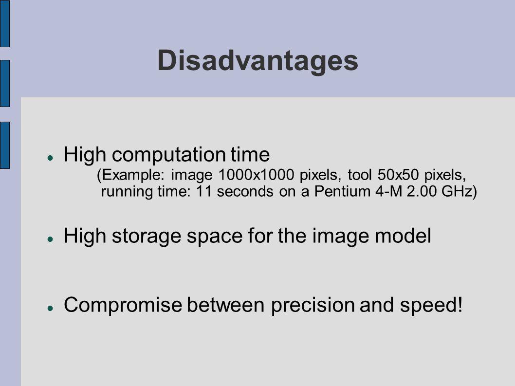 Disadvantages High computation time