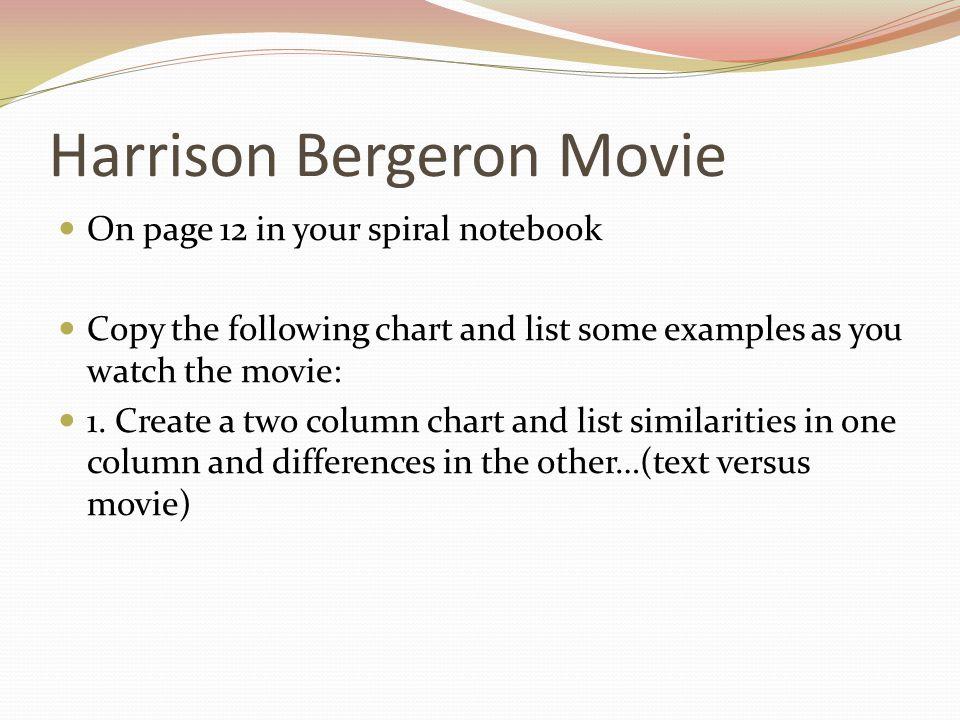 Harrison Bergeron Movie
