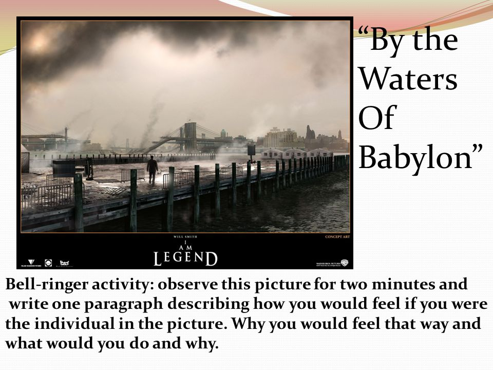 "by the waters of babylon essays In the short story ""by the waters of babylon"" by stephen vincent benet the author uses structure to impact the readers understanding of truth by using the literary device foreshadowing and another literary device situation irony."