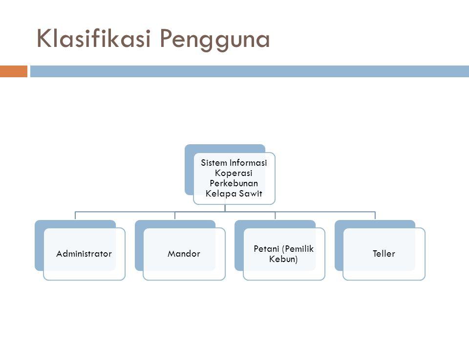 Klasifikasi Pengguna Sistem Informasi Koperasi Perkebunan Kelapa Sawit