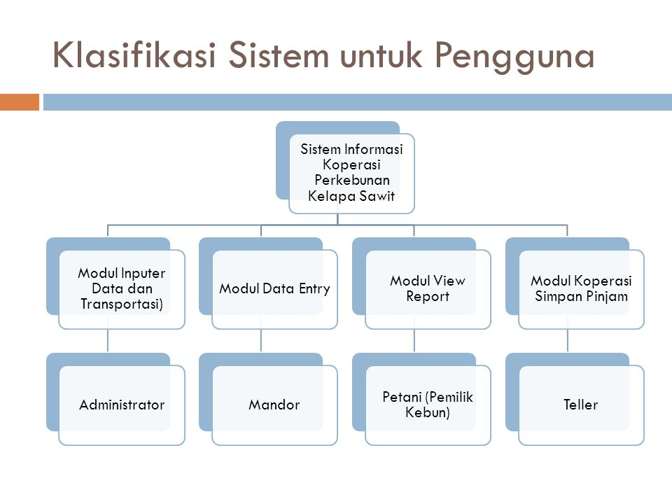 Klasifikasi Sistem untuk Pengguna