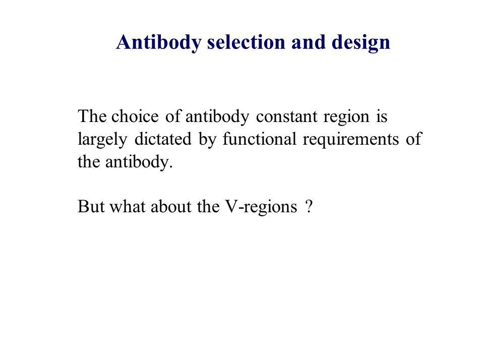 Antibody selection and design