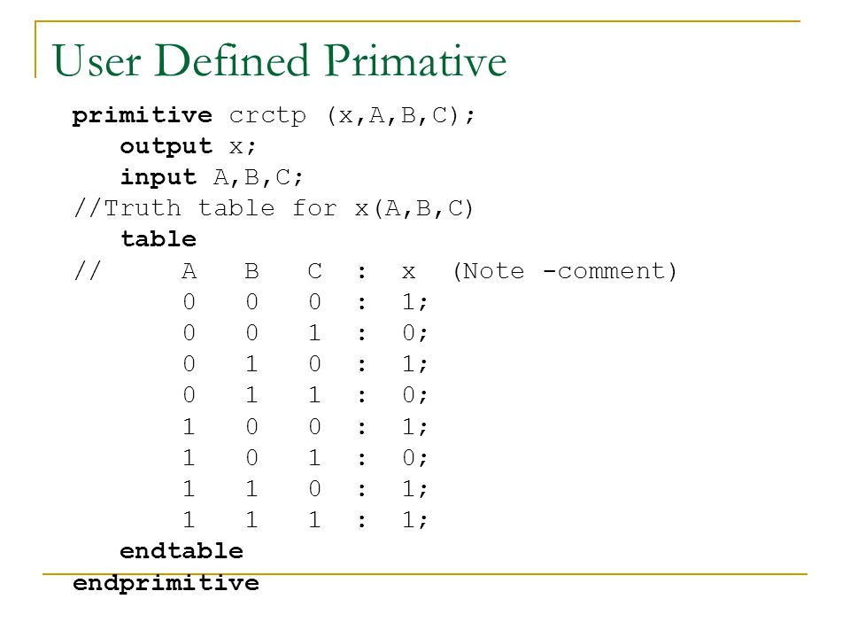 User Defined Primative