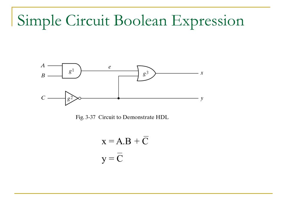 Simple Circuit Boolean Expression