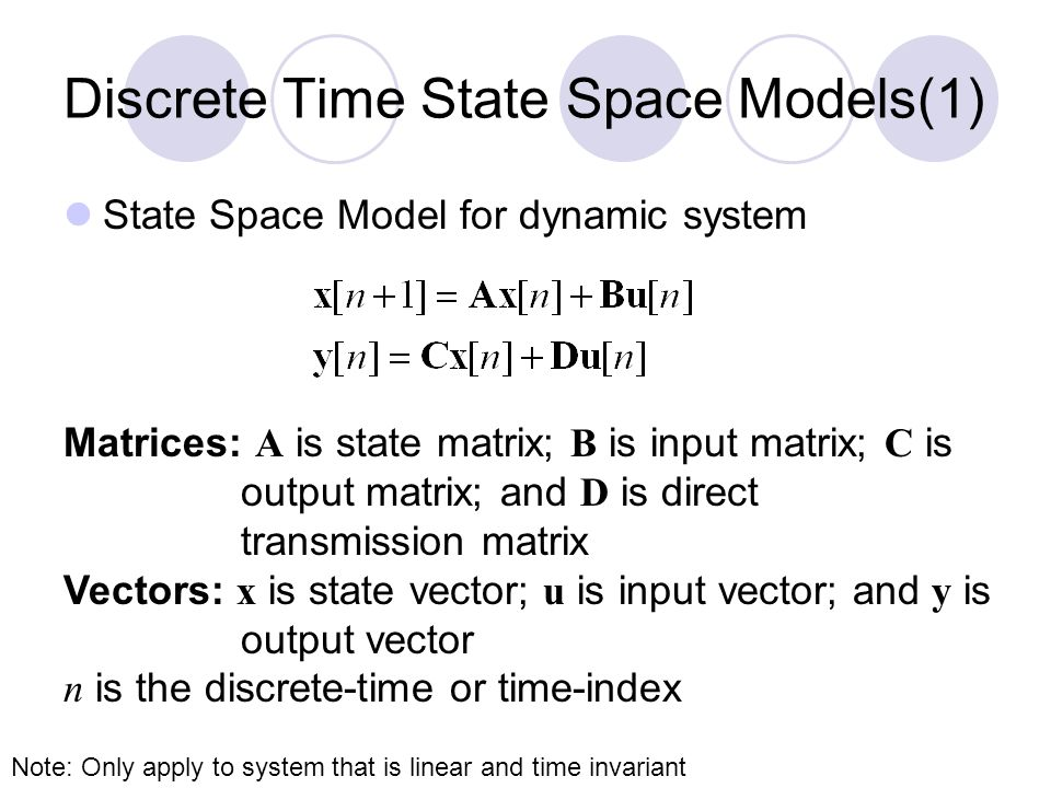 Discrete Time State Space Models(1)