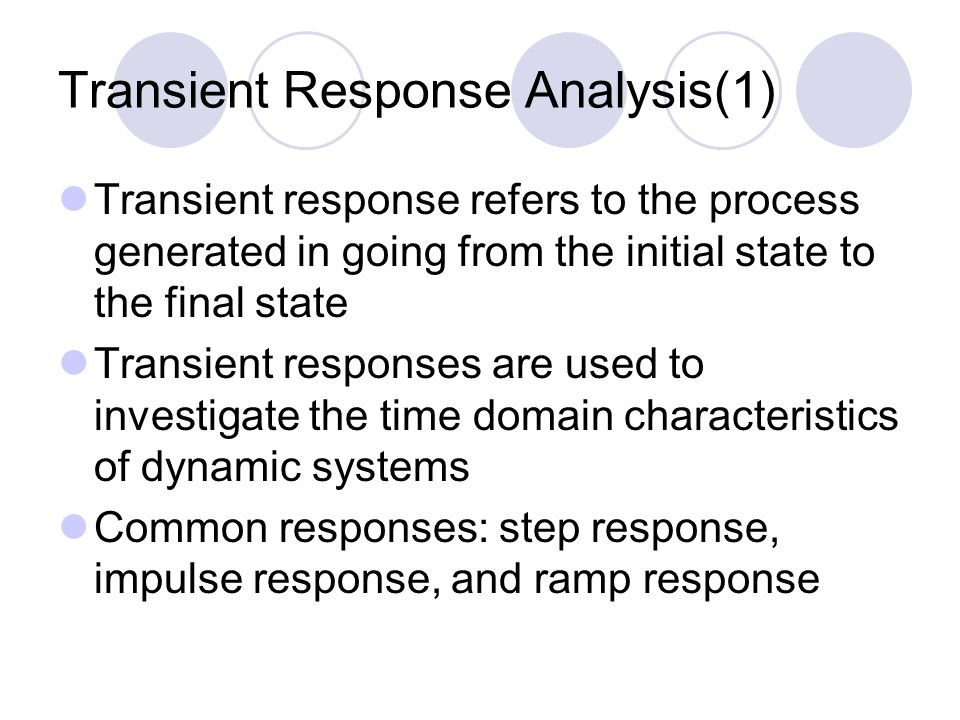 Transient Response Analysis(1)