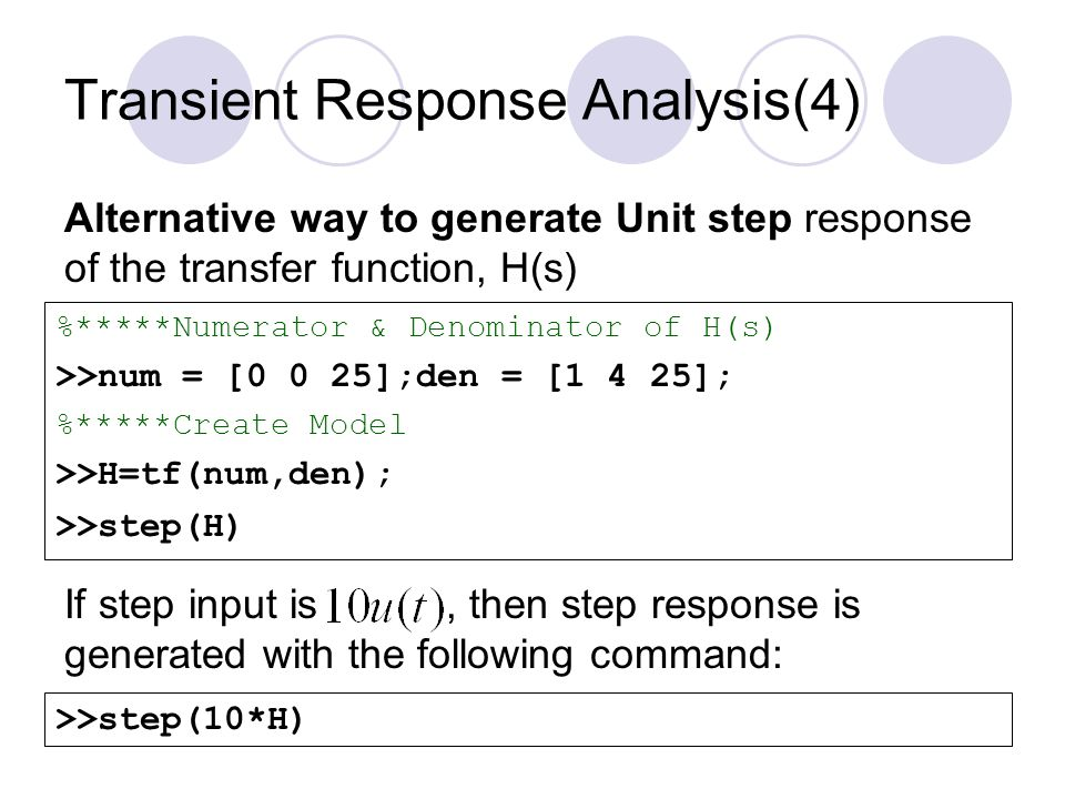Transient Response Analysis(4)