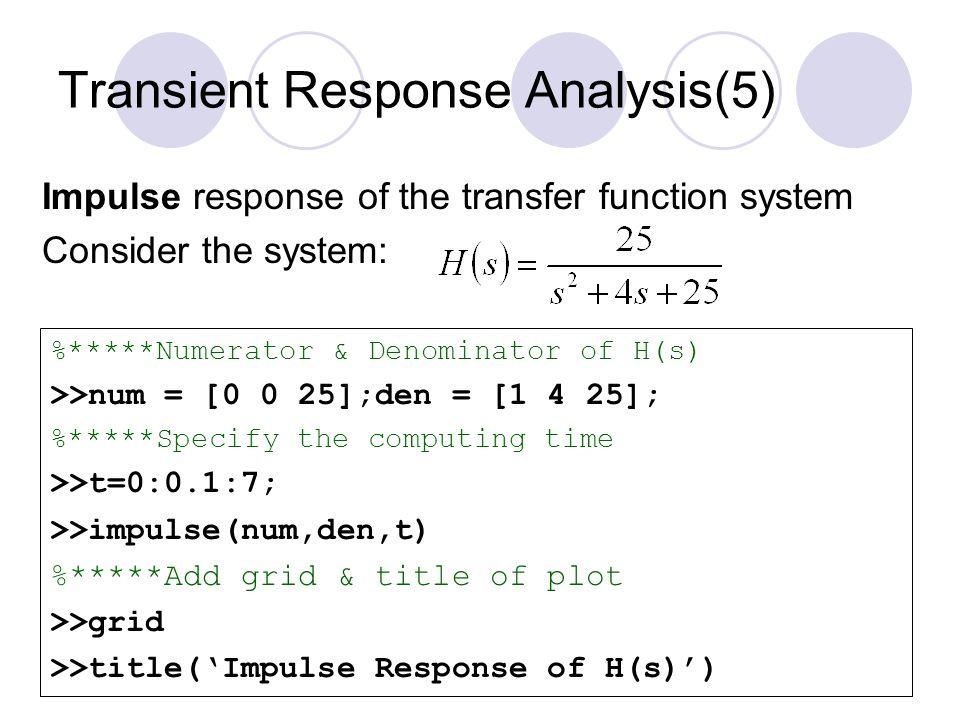 Transient Response Analysis(5)