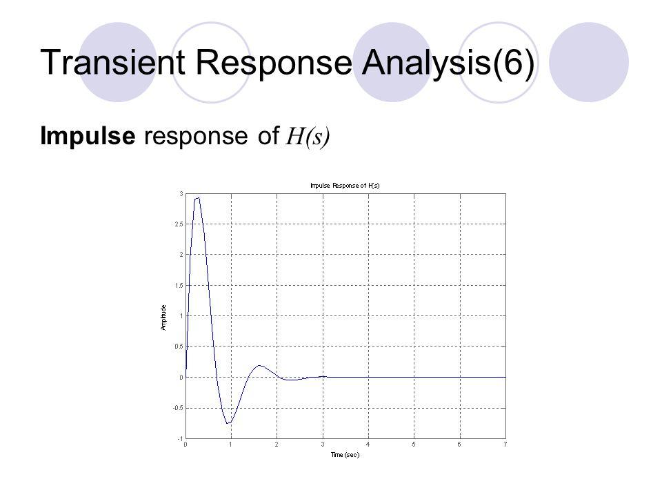 Transient Response Analysis(6)