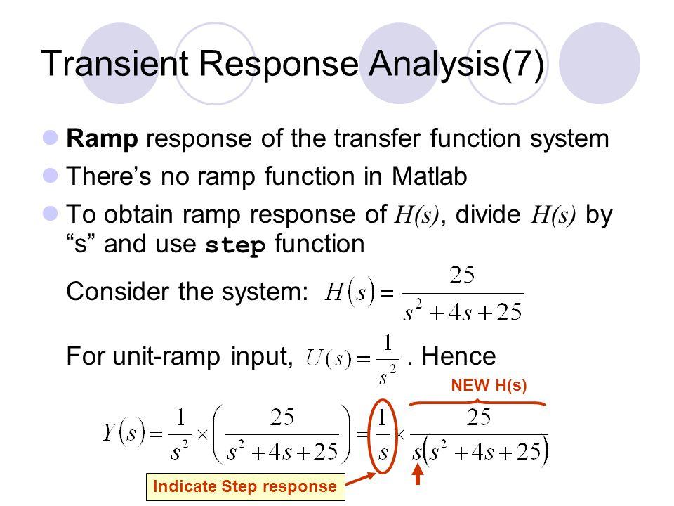 Transient Response Analysis(7)