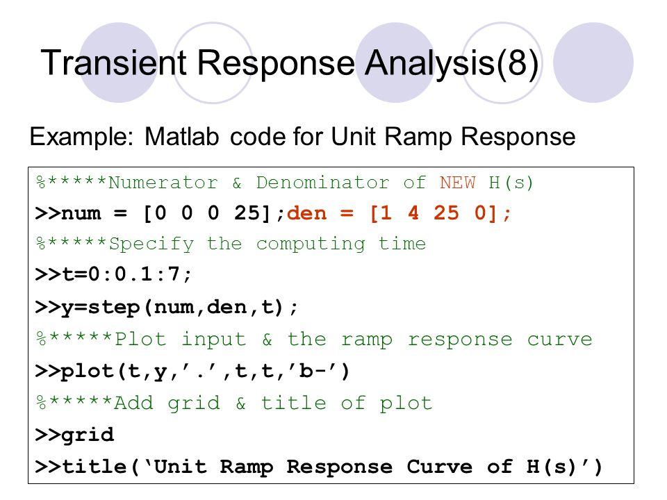 Transient Response Analysis(8)